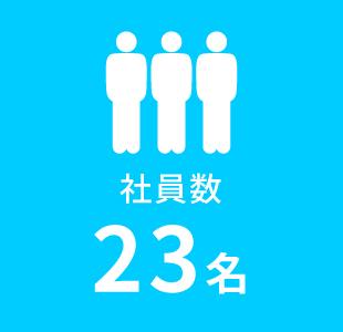 社員数23名