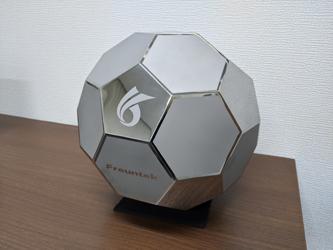 ステンレス製サッカーボール